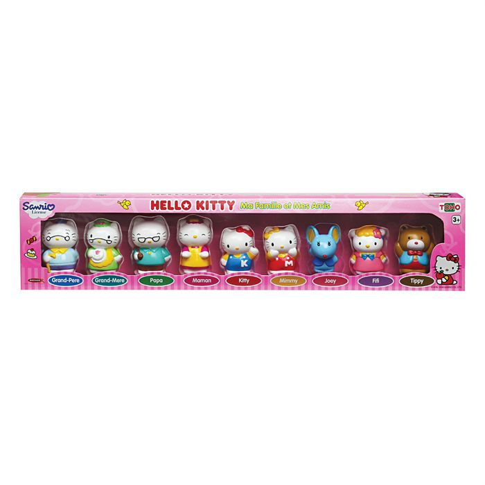 Kitty - Ensemble de 9 Figurines Hello Kitty - Achat / Vente figurine