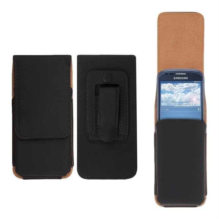 kwmobile housse pour ceinture l gante en cuir avec clip. Black Bedroom Furniture Sets. Home Design Ideas