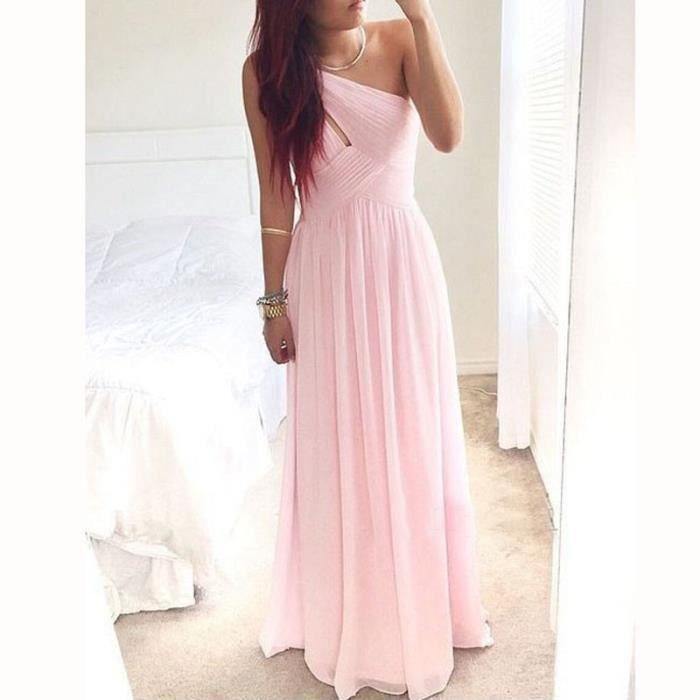 robe rose en mousseline de demoiselle d 39 honneur robe de