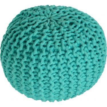 pouf lili vert tricot main bleu clair achat vente pouf poire cdiscount. Black Bedroom Furniture Sets. Home Design Ideas