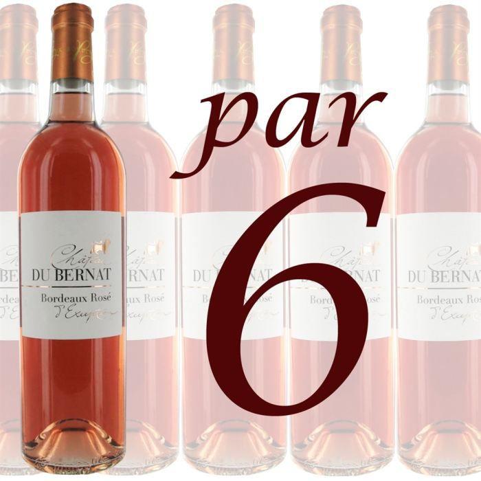VIN ROSE Château du Bernat 2007 «L'Exception» (6 bouteill