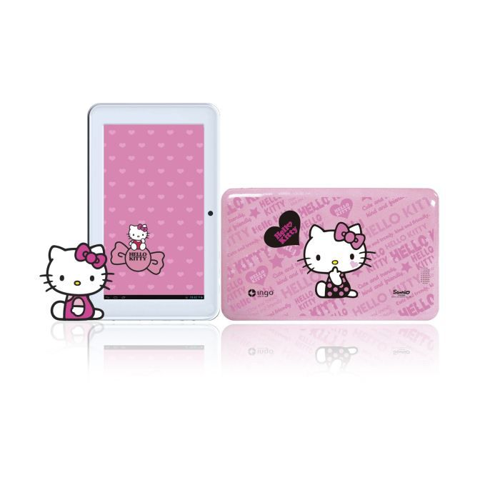 juniors console multimedia hello kitty tablette tactile premium  f ingheud