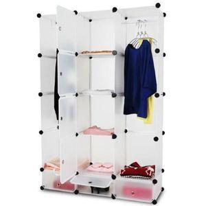 penderie armoire en plastique achat vente penderie. Black Bedroom Furniture Sets. Home Design Ideas