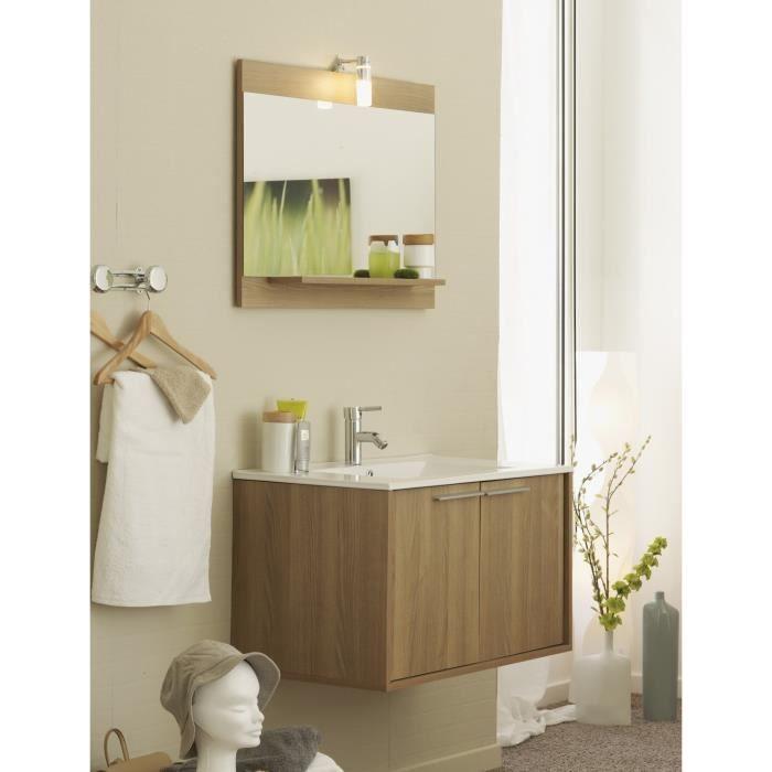 Meuble salle de bain wave d cor robinier achat vente for Salle de bain decor