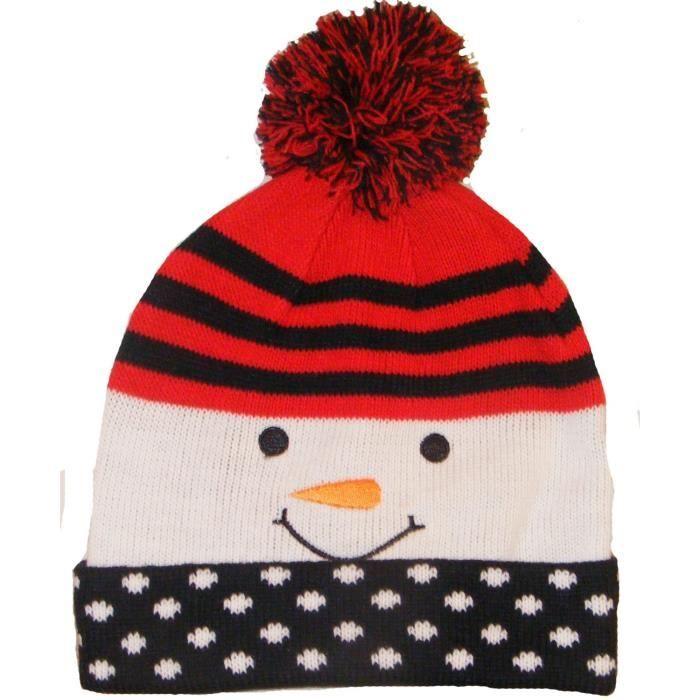 Casquette chapeau bonnet no l bonhomme de neige achat - Chapeau bonhomme de neige ...