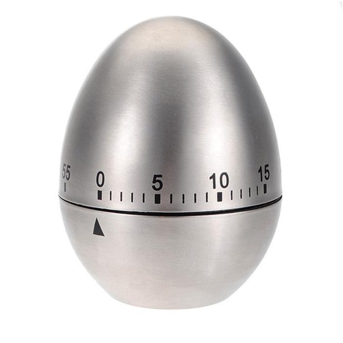 Minuteur inox oeuf 60 minuteur cuisine compteur - Chronometre et minuteur ...