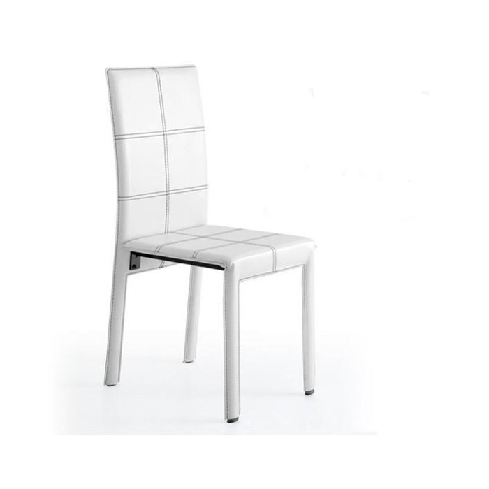 4 chaises mirage blanches achat vente chaise pvc cdiscount. Black Bedroom Furniture Sets. Home Design Ideas