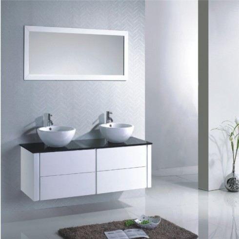 Meuble de salle de bain grecia blanc sdb085 achat for Meuble salle de bain