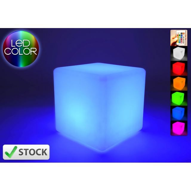 cube lumineux led 30 cm achat vente cube lumineux. Black Bedroom Furniture Sets. Home Design Ideas