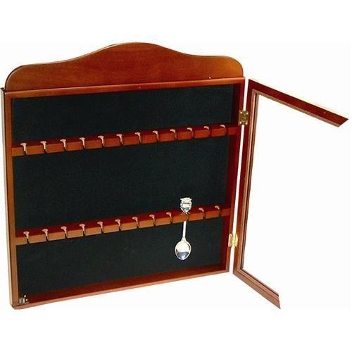 Vitrine en noyer pour 24 petites cuilleres 35x achat for Meuble vitrine pour collection