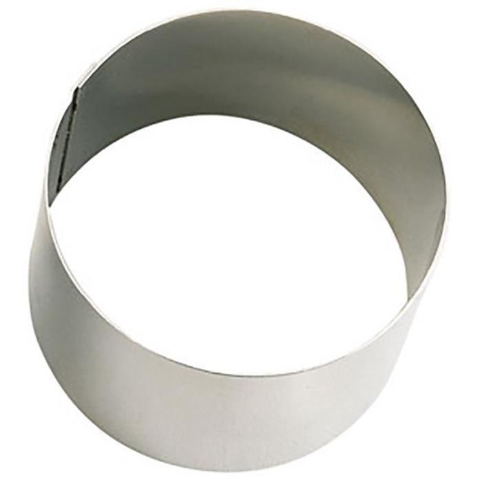 Cercle p tisserie rond en inox ht 4 cm 8 achat vente emporte pi ce cercle - Emporte piece evier inox brico depot ...