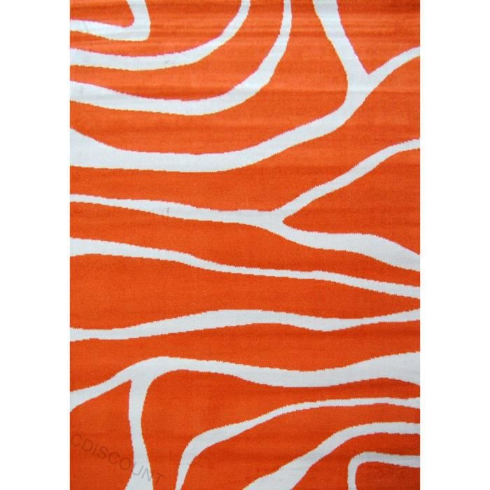 Paradise tapis de salon orange beige 80x150 cm achat - Tapis de sol salon ...