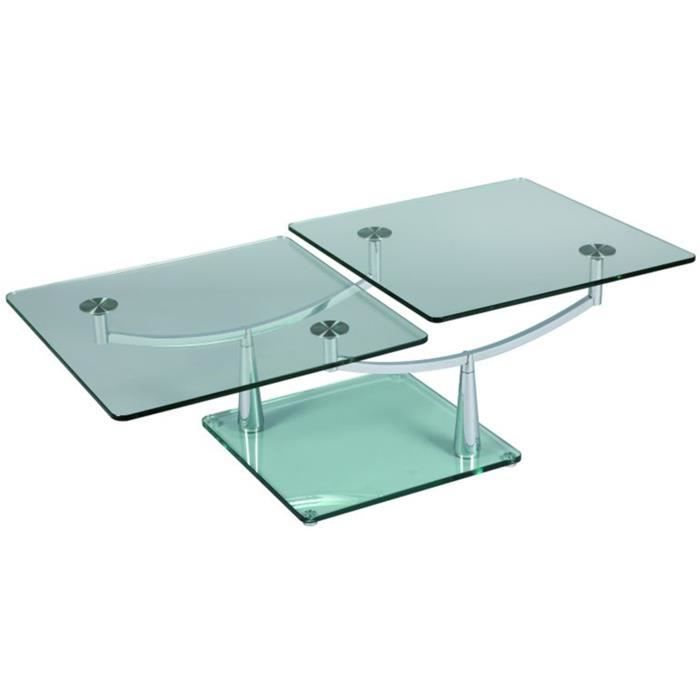 Table Basse En Verre Rectangulaire L1300 X P65 Achat