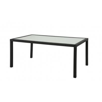 table manger d 39 ext rieur alanda r sine tress e achat vente table de jardin table. Black Bedroom Furniture Sets. Home Design Ideas