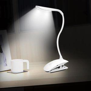 LAMPE A POSER Lampe de Bureau LED Rechargeable à Pince Blanc, Ve
