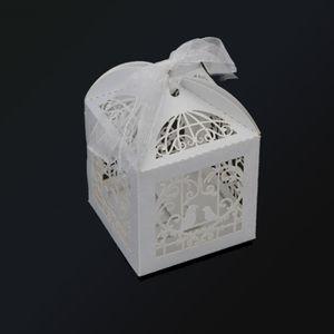 BOÎTE À DRAGÉES 100 PCS Boîte de BonBon Blanc du Motif de Cage