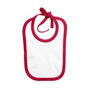 BAVOIR bavoir - bébé - BZ16C - blanc et rouge -