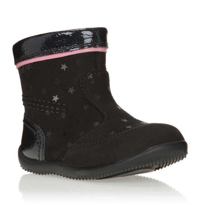 kickers boots bigaro cuir chaussures b b fille noir et. Black Bedroom Furniture Sets. Home Design Ideas