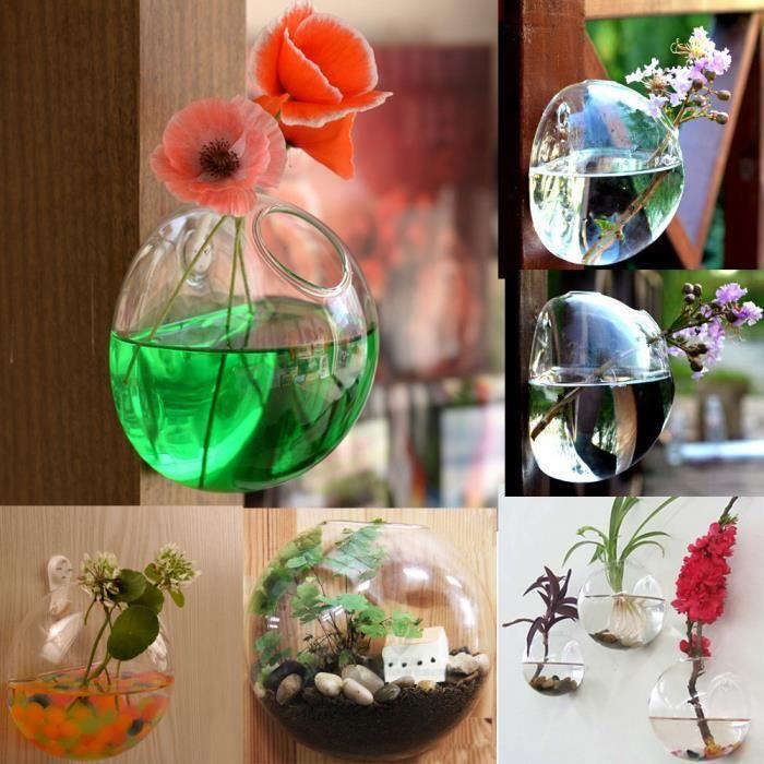 1 trou de fleur en verre suspendu vase bouteille container jardin d cor achat vente vase. Black Bedroom Furniture Sets. Home Design Ideas