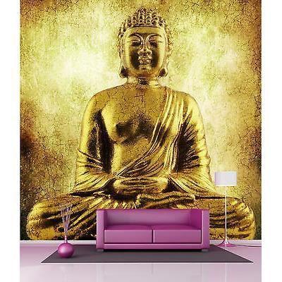 Papier peint g ant d coration murale bouddha r f 4510 dimensions 180x180cm - Stickers bouddha geant ...