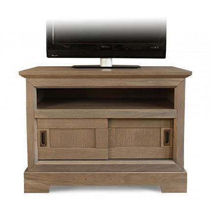 Meuble TV haut en chêne massif - Achat / Vente meuble tv ...
