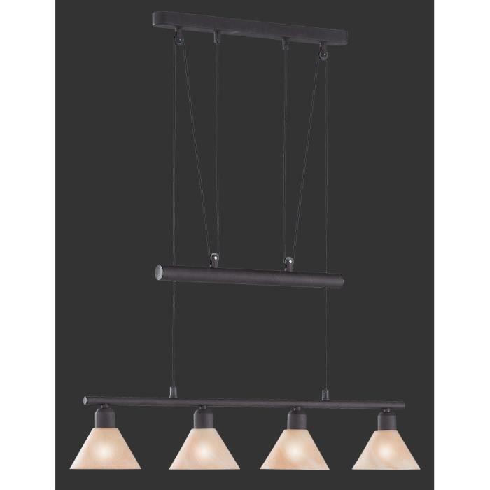 suspension longue 80 cm 4 ampoules en m tal cou achat vente suspension longue 80 cm 4 a. Black Bedroom Furniture Sets. Home Design Ideas