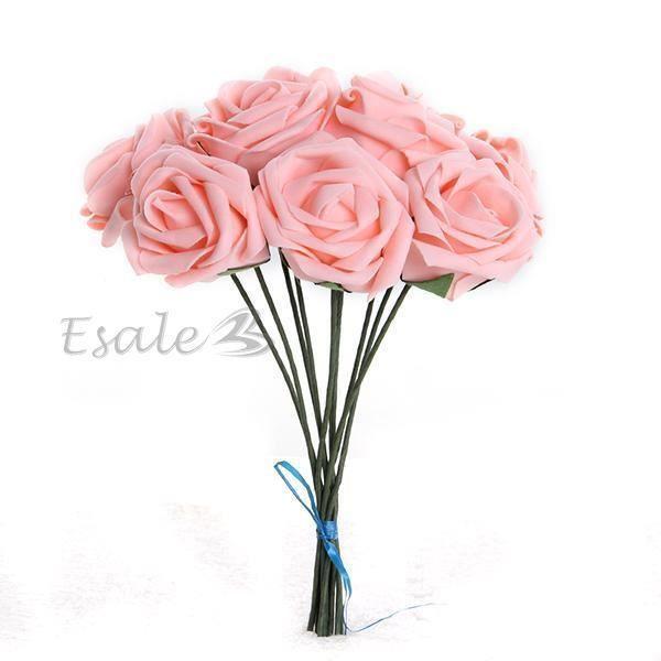 Bouquet rose artificielle fleur mariage mousse noce mari e enfant d cor chaud - Fleurs artificielles pour mariage ...