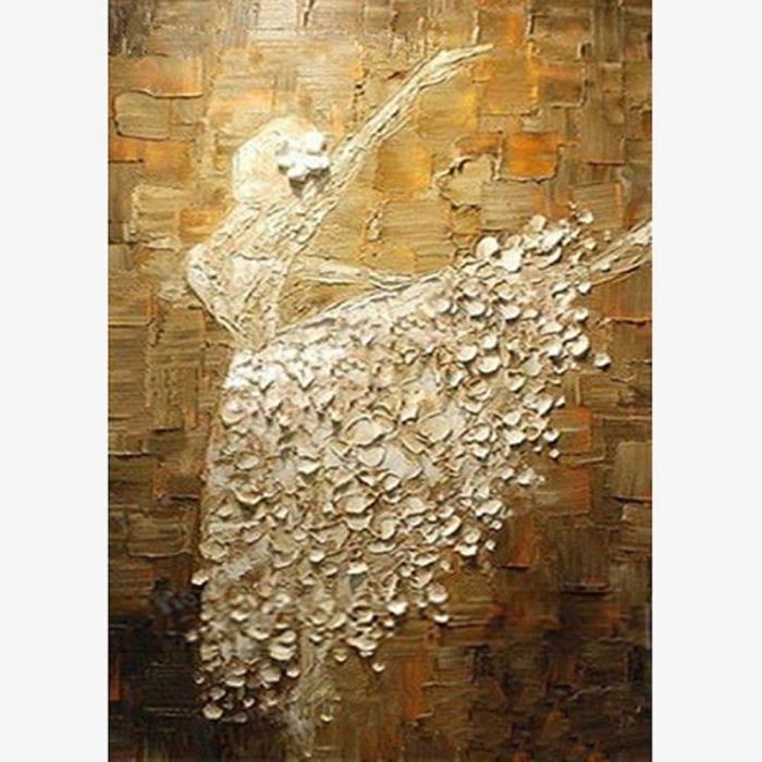 Peinture l 39 huile toile peinte main tableau art ballet - Vente tableaux peinture a l huile ...