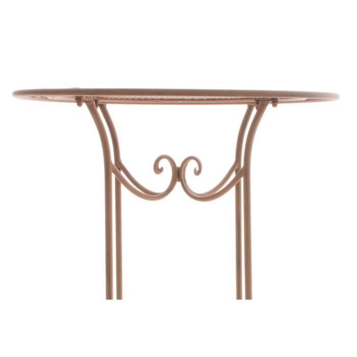Clp table haute thalia en m tal 70 cm hauteur 100 cm for Table hauteur 70 cm
