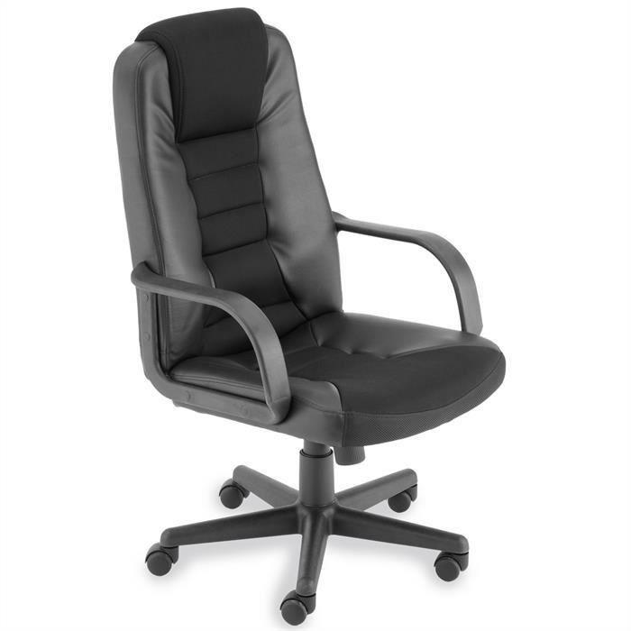 fauteuil de bureau martin noir avec accoudoirs achat