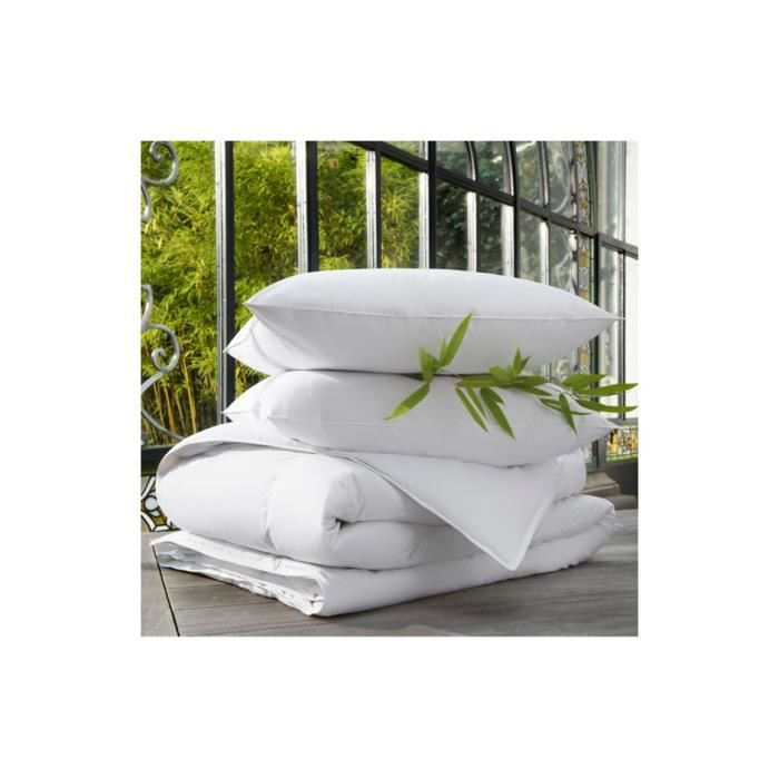 pack pyrenex duvet et plumettes 1 couette 2 oreillers 240 x 220 cm achat vente couette. Black Bedroom Furniture Sets. Home Design Ideas