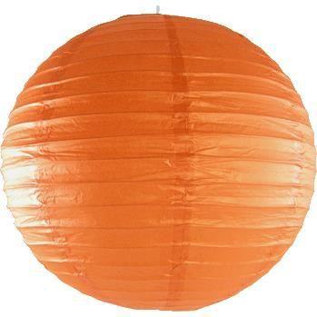 Boule japonaise orange achat vente boule japonaise orange papier fer c - Lampe boule japonaise ...