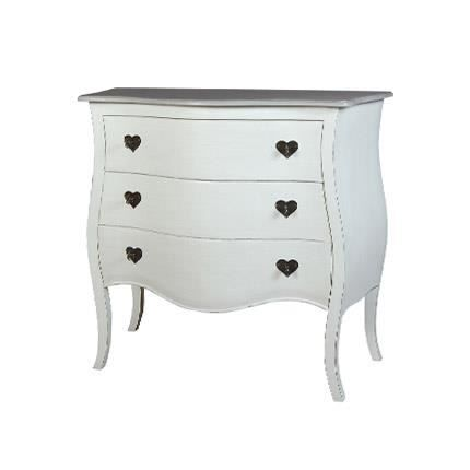 commode 3 tiroirs blanc achat vente commode. Black Bedroom Furniture Sets. Home Design Ideas