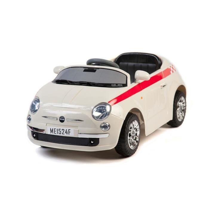 6v voiture lectrique pour enfant style fiat 500 achat vente voiture enfant cdiscount. Black Bedroom Furniture Sets. Home Design Ideas