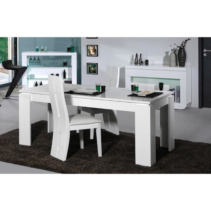 Table de salle manger design loyd coloris blanc laqu for Table de salle a manger design