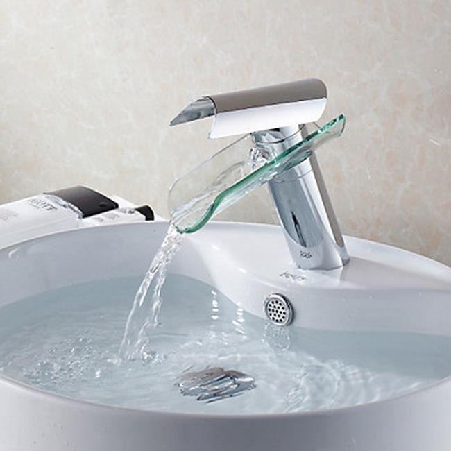 lookshop robinet d 39 vier cascade pour salle de bains conception en verre bec en verre achat. Black Bedroom Furniture Sets. Home Design Ideas