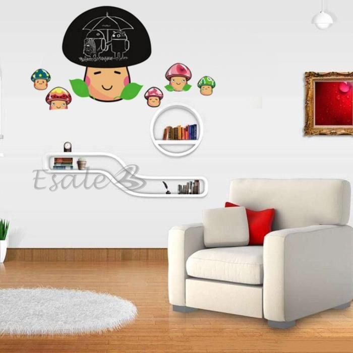 Sticker autocollant mural champignon chic diy d co mur - Champignon mur exterieur maison ...