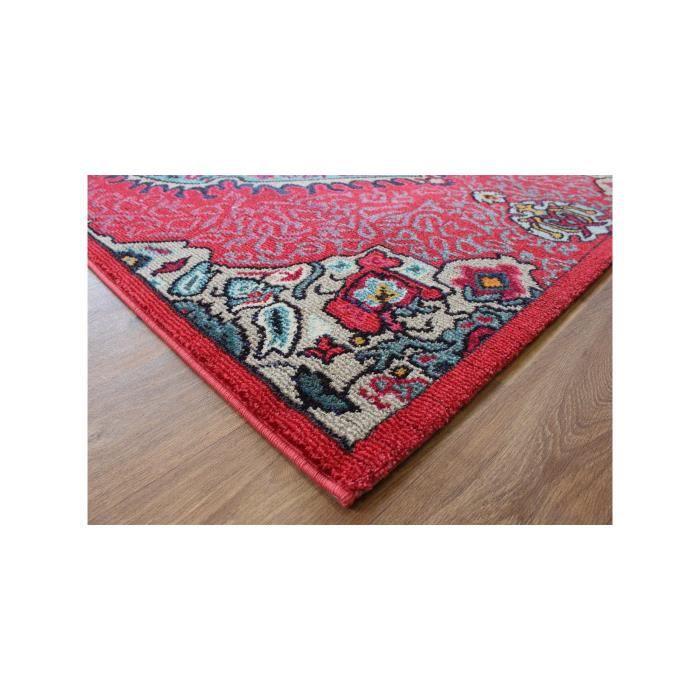 Benuta tapis orient colores rouge 200x300 cm achat for Tapis rouge avec canapé 145 cm