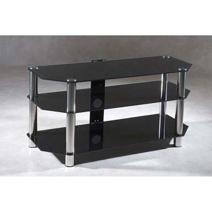 meuble tv design 3 verres 110x41 stekla achat vente meuble tv meuble tv design 3 verres. Black Bedroom Furniture Sets. Home Design Ideas
