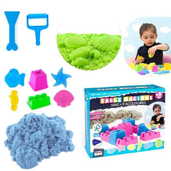 Kit loisirs cr atifs sable magique 9 accessoires - Accessoires loisirs creatifs ...