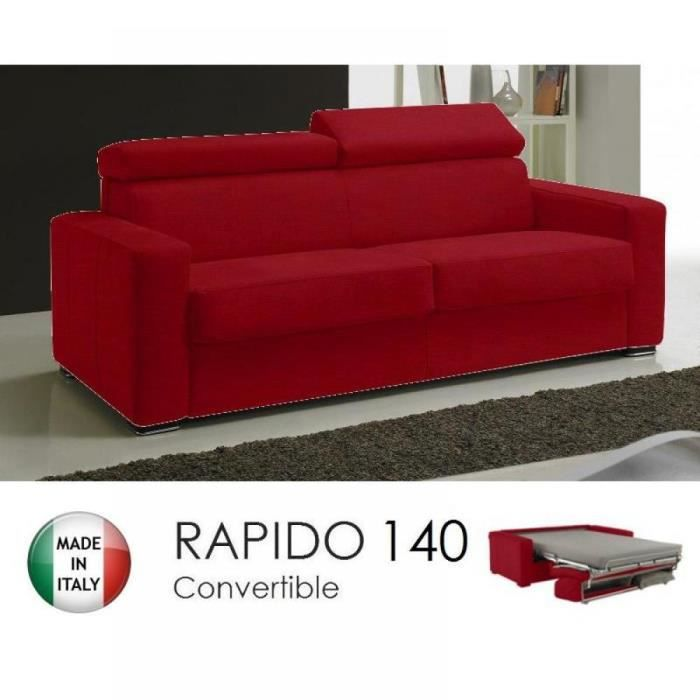 Canap rapido sidney tweed cross coloris rouge achat vente canap sof - Canape rapido soldes ...