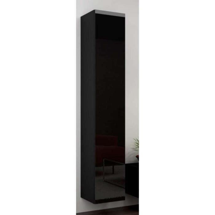 Justhome vigo full armoire suspendue 180 cm couleur noir for Meuble tv mural 240 cm blanc gris adhara