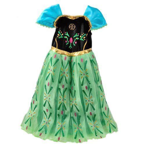 Robe enfants paillettes princesse strass flocons cape - Robe de anna reine des neiges ...