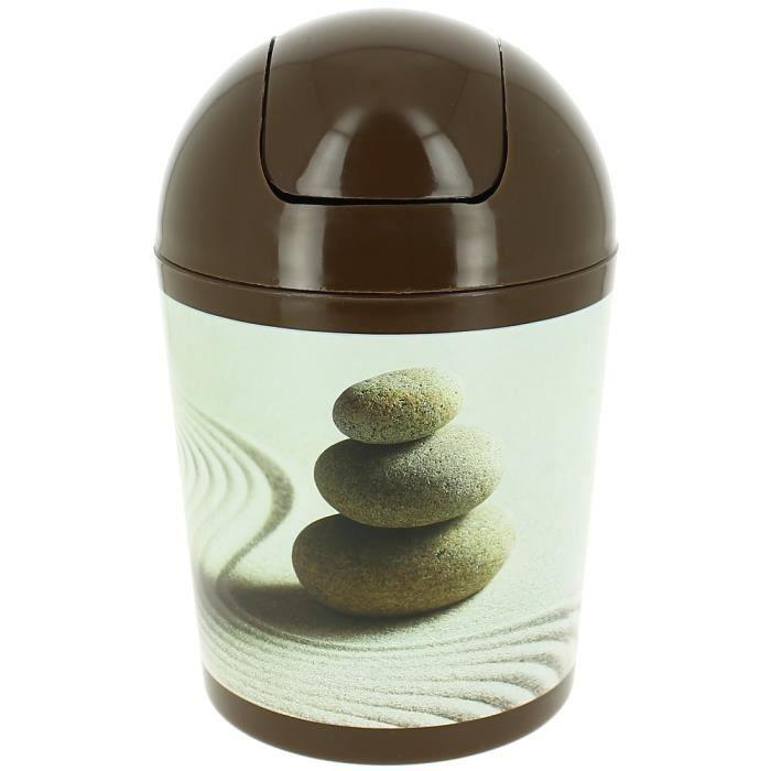 Poubelle corbeille zen salle de bain galets d s achat for Salle de bain zen galet