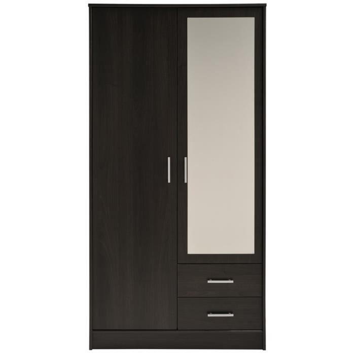 armoire 2 portes avec penderie achat vente armoire 2 portes avec penderie pas cher les. Black Bedroom Furniture Sets. Home Design Ideas