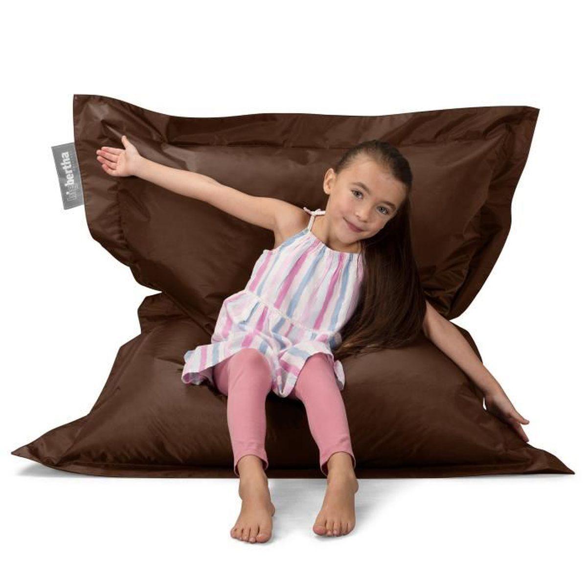 pouf g ant marron achat vente pouf poire cdiscount. Black Bedroom Furniture Sets. Home Design Ideas