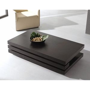 Table basse chicago rectangulaire wengue achat vente - Tables basses rectangulaires ...