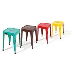 tabouret industriel achat vente tabouret industriel pas cher cdiscount. Black Bedroom Furniture Sets. Home Design Ideas
