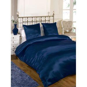 parure de lit drap housse et drap plat en satin achat vente parure de lit drap housse et. Black Bedroom Furniture Sets. Home Design Ideas