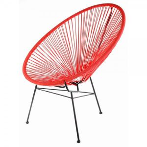 FAUTEUIL Fauteuil Acapulco Rouge
